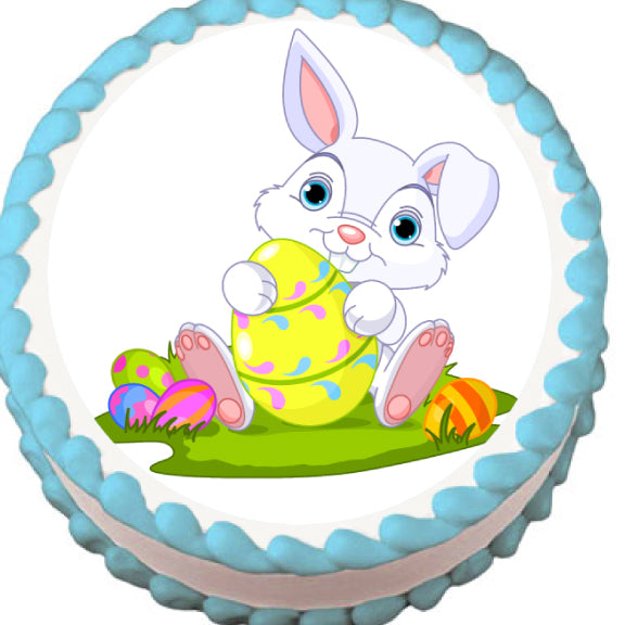 Easter Bunny Edible Cake, Cupcake & Cookie Topper - Trish Gayle