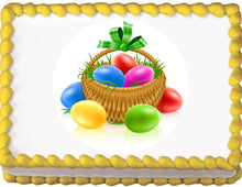 Load image into Gallery viewer, Easter Egg Basket Edible Cake, Cupcake & Cookie Topper - Trish Gayle