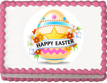 Load image into Gallery viewer, Happy Easter Egg Edible Cake, Cupcake & Cookie Topper - Trish Gayle