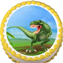 Load image into Gallery viewer, Roaring T-Rex Edible Cake, Cupcake & Cookie Topper - Trish Gayle