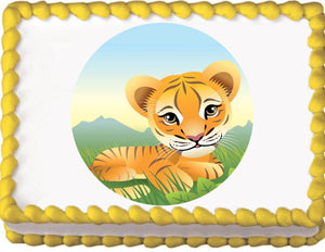 Baby Tiger Edible Cake, Cupcake & Cookie Topper - Trish Gayle
