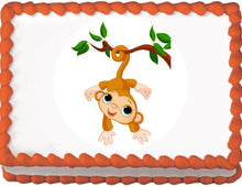 Load image into Gallery viewer, Monkey on a Branch Edible Cake, Cupcake & Cookie Topper - Trish Gayle