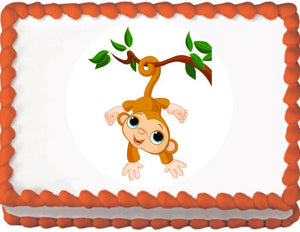 Monkey on a Branch Edible Cake, Cupcake & Cookie Topper - Trish Gayle