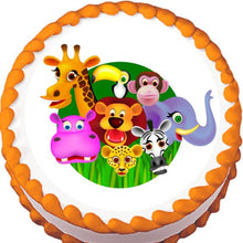 Load image into Gallery viewer, Jungle Animals Edible Cake, Cupcake & Cookie Topper - Trish Gayle