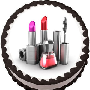 Makeup Set Edible Cake, Cupcake & Cookie Topper - Trish Gayle