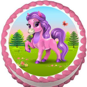 Pretty Pony Edible Cake, Cupcake & Cookie Topper - Trish Gayle