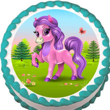 Load image into Gallery viewer, Pretty Pony Edible Cake, Cupcake & Cookie Topper - Trish Gayle