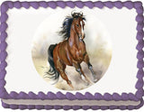 Horse Running Free Edible Cake, Cupcake & Cookie Topper - Trish Gayle