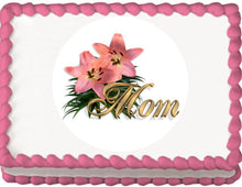 Load image into Gallery viewer, Mom and Flowers Edible Cake, Cupcake & Cookie Topper - Trish Gayle