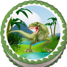 Load image into Gallery viewer, Terrifying T-Rex Cake, Cupcake & Cookie Topper - Trish Gayle