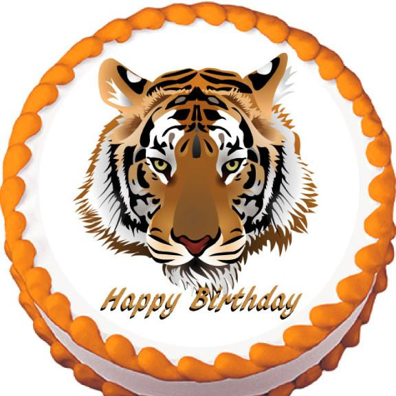Tiger Edible Cake, Cupcake & Cookie Topper - Trish Gayle