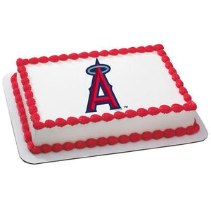 Los Angeles Angels Logo Edible Cake, Cupcake & Cookie Topper - Trish Gayle