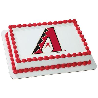 Arizona Diamondbacks MLB Edible Cake, Cupcake & Cookie Topper - Trish Gayle