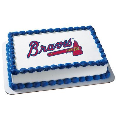 Atlanta Braves MLB Edible Cake, Cupcake & Cookie Topper - Trish Gayle