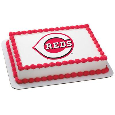 Cincinnati Reds Logo Edible Cake, Cupcake & Cookie Topper - Trish Gayle