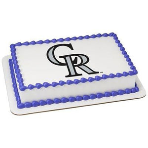 Colorado Rockies Logo Edible Cake, Cupcake & Cookie Topper - Trish Gayle