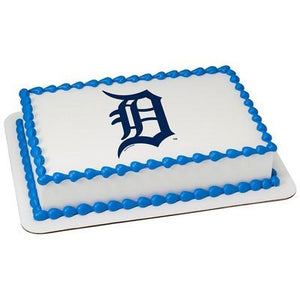 Detroit Tigers Logo Edible Cake, Cupcake & Cookie Topper - Trish Gayle