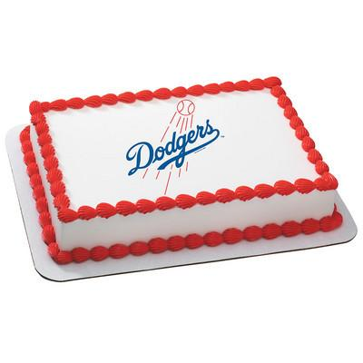Los Angeles Dodgers Logo Edible Cake, Cupcake & Cookie Topper - Trish Gayle