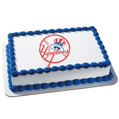New York Yankees MLB Edible Cake, Cupcake & Cookie Topper - Trish Gayle