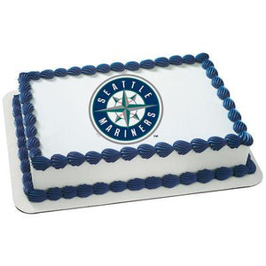 Seattle Mariners Logo Edible Cake, Cupcake & Cookie Topper - Trish Gayle