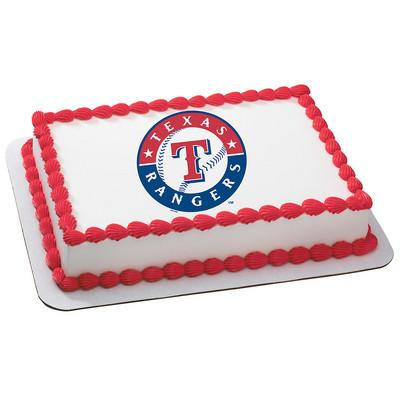 Texas Rangers MLB Edible Cake, Cupcake & Cookie Topper