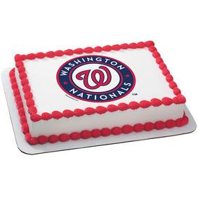 Washington Nationals Logo Edible Cake, Cupcake & Cookie Topper - Trish Gayle