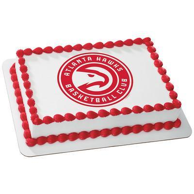 Atlanta Hawks Logo Edible Cake, Cupcake & Cookie Topper - Trish Gayle