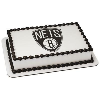 Brooklyn Nets Logo Edible Cake, Cupcake & Cookie Topper - Trish Gayle