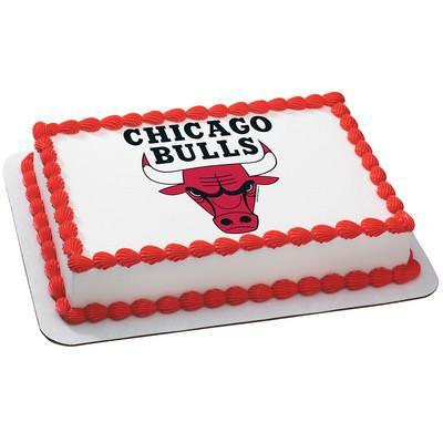 Chicago Bulls Logo Edible Cake, Cupcake & Cookie Topper - Trish Gayle