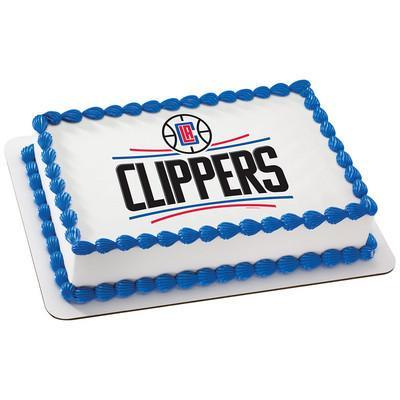 Los Angeles Clippers Logo Edible Cake, Cupcake & Cookie Topper - Trish Gayle