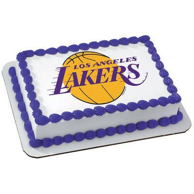 Los Angeles Lakers Logo Edible Cake, Cupcake & Cookie Topper - Trish Gayle
