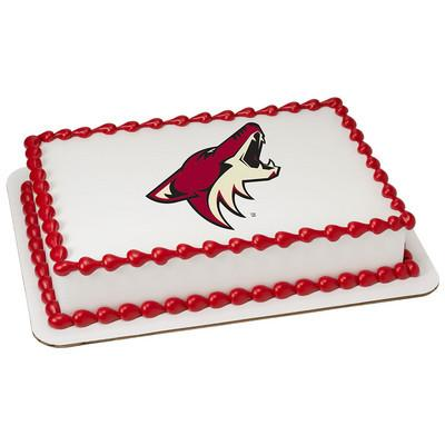 Arizona Coyotes Logo Edible Cake, Cupcake & Cookie Topper - Trish Gayle