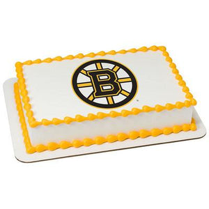 Boston Bruins Logo Edible Cake, Cupcake & Cookie Topper - Trish Gayle