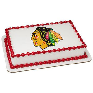 Chicago Blackhawks Logo Edible Cake, Cupcake & Cookie Topper - Trish Gayle