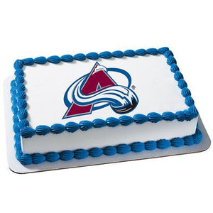 Colorado Avalanche Logo Edible Cake, Cupcake & Cookie Topper - Trish Gayle