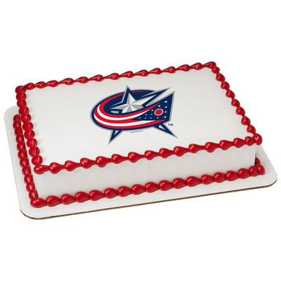 Columbus Blue Jackets Logo Edible Cake, Cupcake & Cookie Topper - Trish Gayle