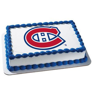 Montreal Canadiens Logo Edible Cake, Cupcake & Cookie Topper - Trish Gayle