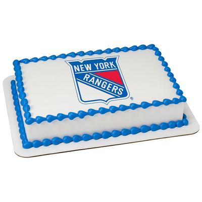 New York Rangers Logo Edible Cake, Cupcake & Cookie Topper - Trish Gayle