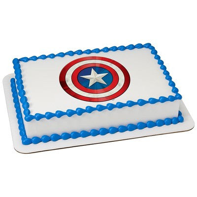 Marvel's Avengers Captain America Icon Edible Cake & Cupcake Topper - Trish Gayle