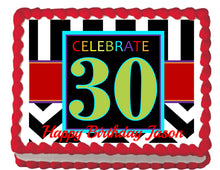 Load image into Gallery viewer, Celebrate 30 Edible Cake, Cupcake & Cookie Topper - Trish Gayle