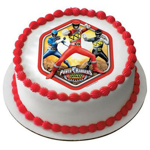 Power Rangers Dino Charge Prehistoric Edible Cake, Cupcake & Cookie Topper - Trish Gayle