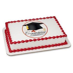 Grad Cap Edible Cake, Cupcake & Cookie Topper - Trish Gayle