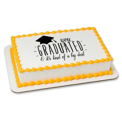 Big Deal Grad Edible Cake, Cupcake & Cookie Topper - Trish Gayle