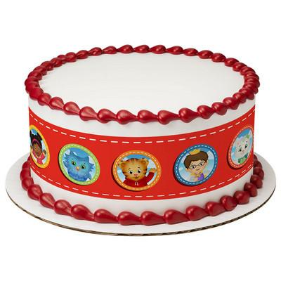 Daniel Tiger's Neighborhood Hi Neighbor Edible Cake Side Print - Trish Gayle