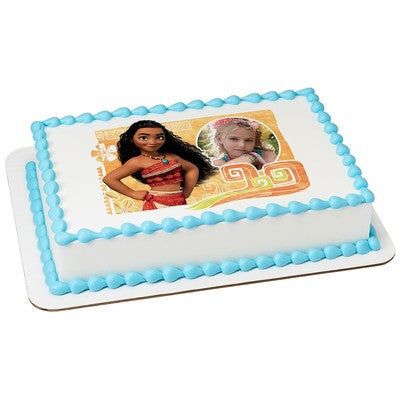Moana The Wayfinder Picture Frame Edible Cake, Cupcake & Cookie Topper - Trish Gayle