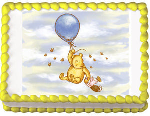 Winnie the Pooh Classic Edible Cake, Cupcake & Cookie Topper - Trish Gayle