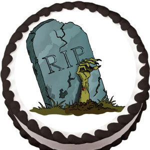 RIP Tombstone Halloween Edible Cake, Cupcake & Cookie Topper - Trish Gayle
