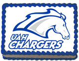 Alabama Huntsville Chargers Edible Cake, Cupcake & Cookie Topper - Trish Gayle