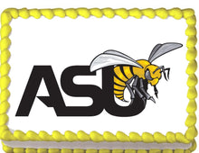 Load image into Gallery viewer, Alabama State Hornets Edible Cake, Cupcake & Cookie Topper - Trish Gayle