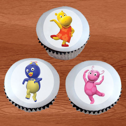 Backyardigans Edible Cupcake / Cookie Toppers - Trish Gayle